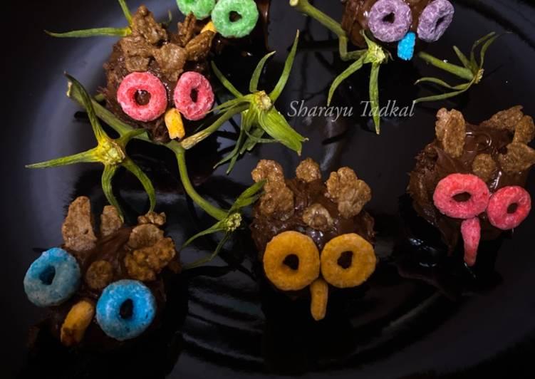 Recipe of Any-night-of-the-week Owl on Twig Chococake