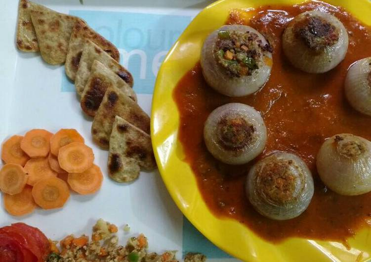 Steps to Prepare Top-Rated Stuffed onion curry