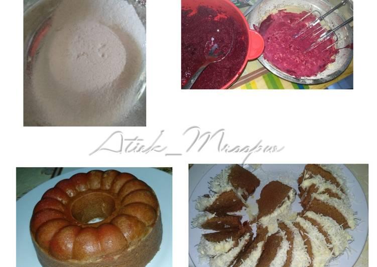 Bolu Kukus Buah Bit / beetroot gluten free