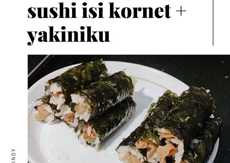 Sushi isi kornet + yakiniku