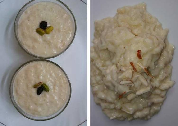 Rice Pudding with Date Palm Jaggery/Nolen Gurer Payesh