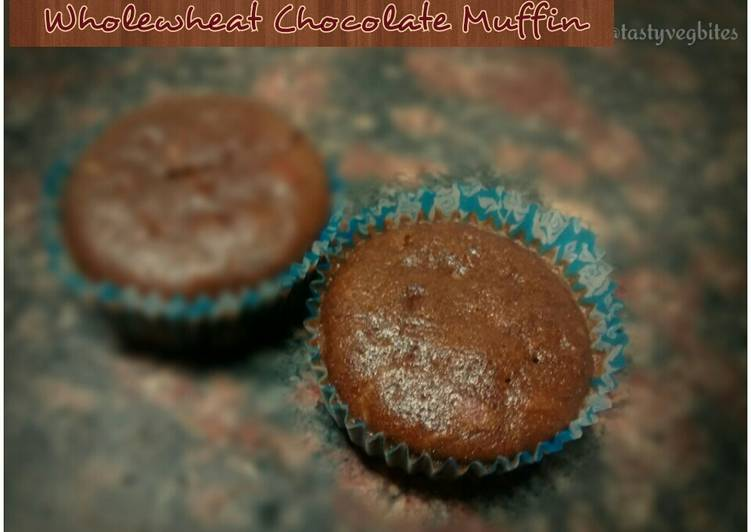 Step-by-Step Guide to Prepare Super Quick Homemade Wholewheat Almond 'N' Chocolate Muffin