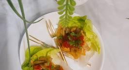Hình ảnh món Tacos xà lách nấm đậu (chay)