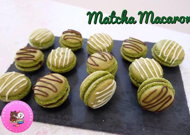 Resep MATCHA MACARON dengan TIPS and TRICK