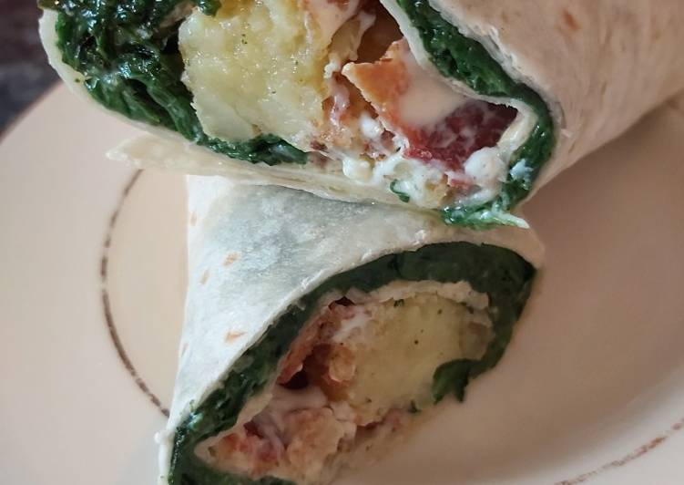Bacon, Spinach & Hash Brown Wrap