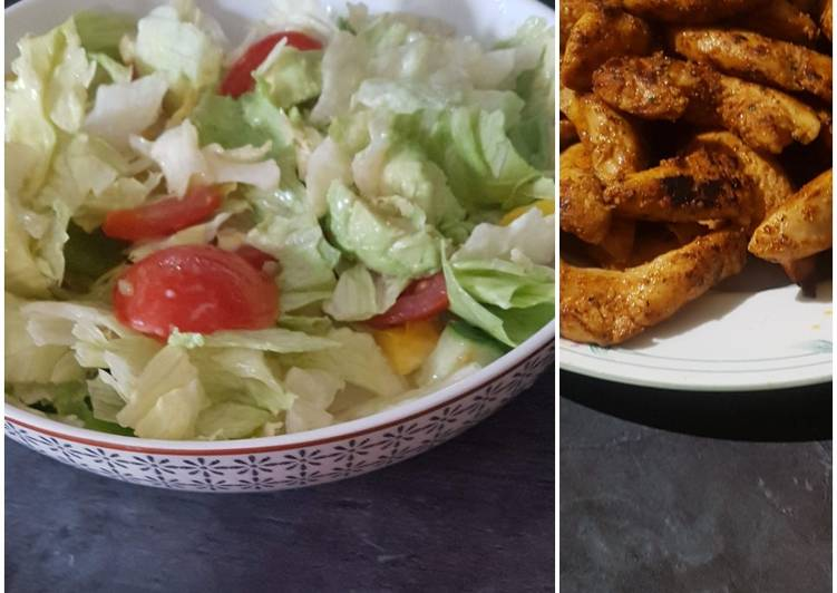 Recipe: Delicious Avocado salad with grilled chicken