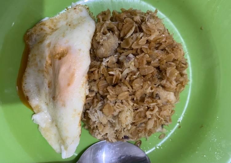Nasi Oat goreng kepiting