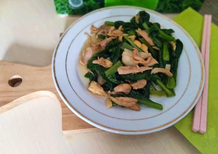 Resep Tumis Caisim Ayam Suwir🥬 yang Enak Banget
