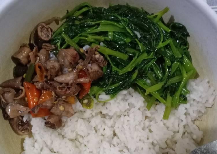 Nasi cumi kangkung