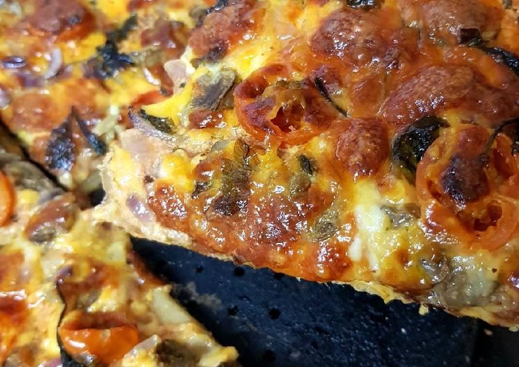 Easiest Way to Prepare Appetizing My Rustic 2 Cheese & Mushroom Pizza. 🤗