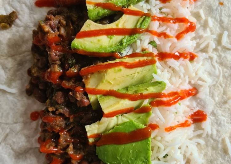 Steps to Make Super Quick Homemade Spicy Bean Burritos