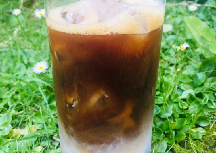 Steps to Prepare Super Quick Homemade My perfect iced coffee with coconut milk 🌴 🥥 ☕️☀️🌱