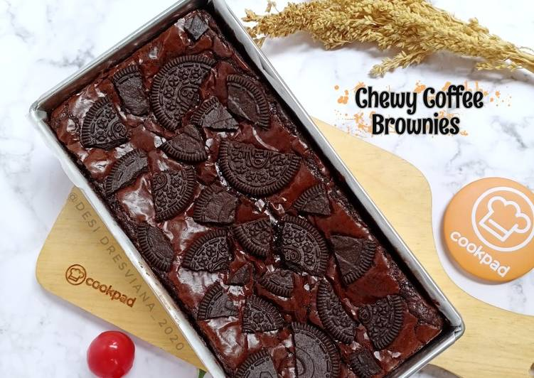 Chewy Coffee Brownies