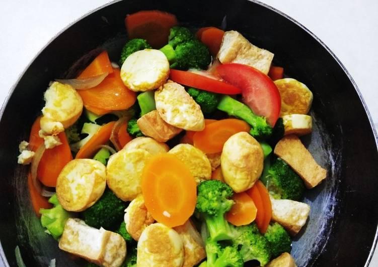 Sayur tumis tofu brokoli