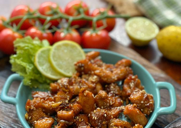 Ayam Lemon Wijen ala Tiger Kitchen