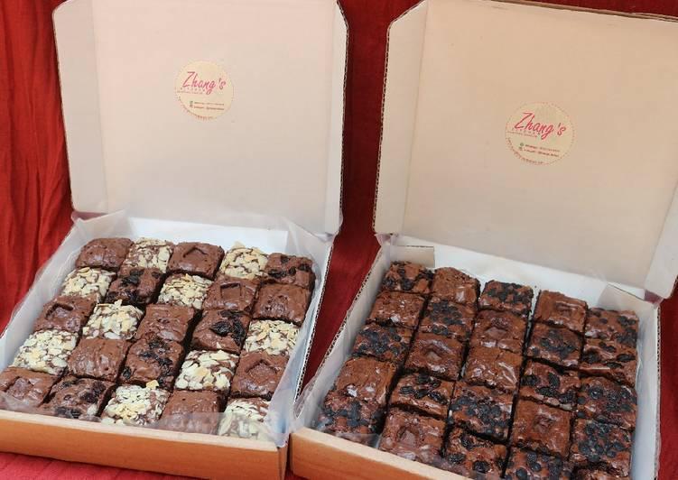 Brownies Lembut 😍 Shiny Crust (No BP/SP, No Baking Powder)