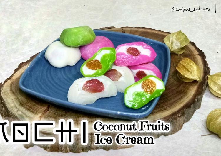 Mochi Coconut Fruits Ice Cream - cookandrecipe.com