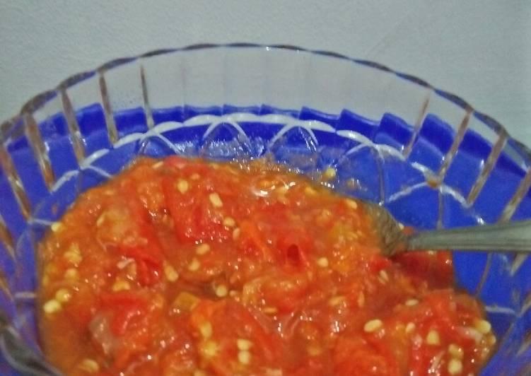 Resep Sambel tomat (Rebus) oleh arief@zahra - Cookpad