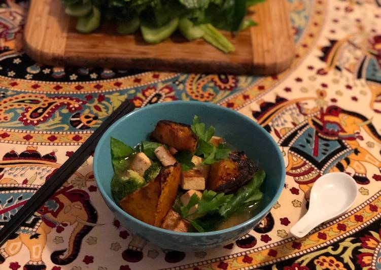 Recipe of Speedy Pumpkin Tofu & Miso Ramen