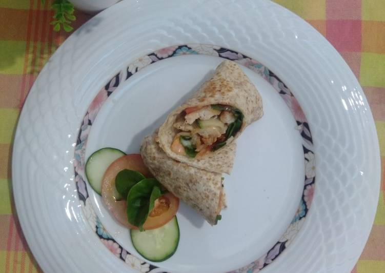 Cara Mudah Masak: Chicken Wraps Sempoi  Lazat