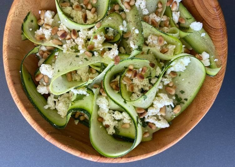 Recipe: Appetizing Salade courgette fêta