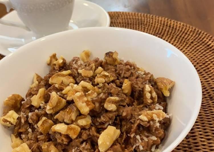 Coconut Chocolate Nuts Oatmeal