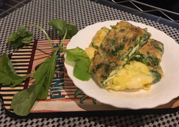 Cheese spinach Omelet