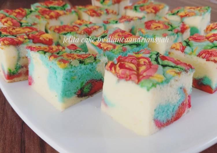 Jelita cake 3 telur metode all in one