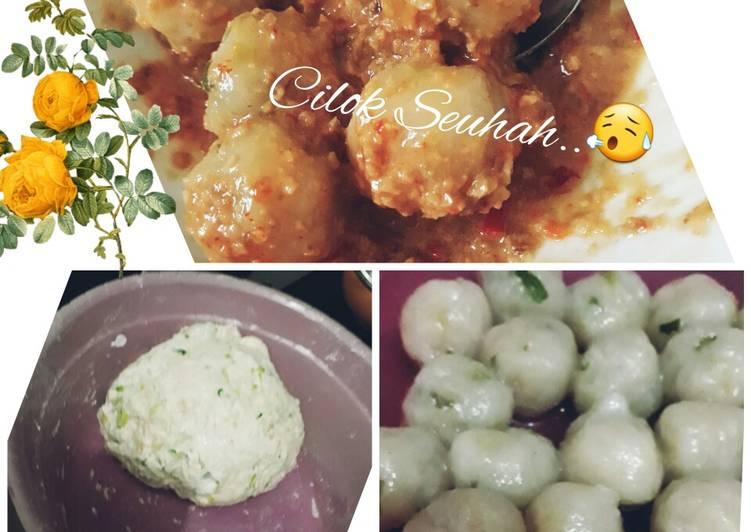 Cilok Ayam Simple/ sederhana (Cilok Seuhah)