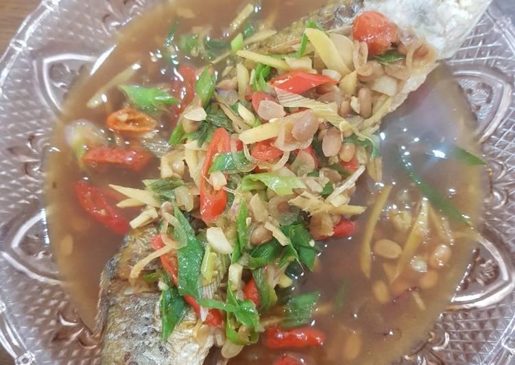 Ikan belanak masak tauco