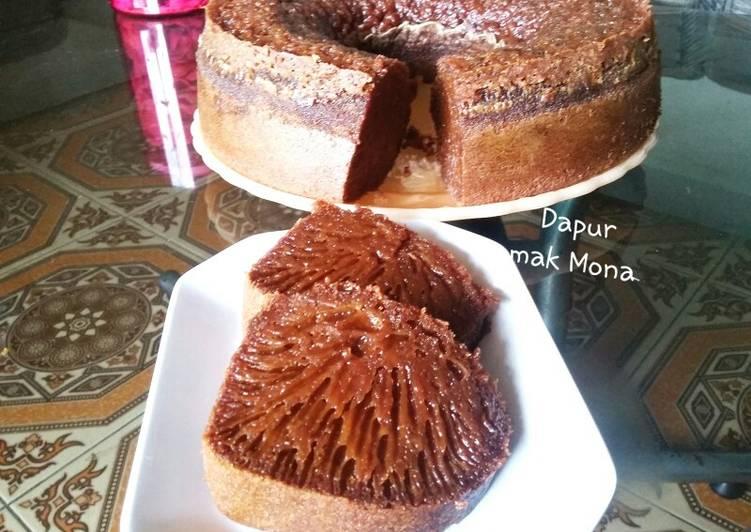 cara menyajikan Bolu caramel jadul - Sajian Dapur Bunda