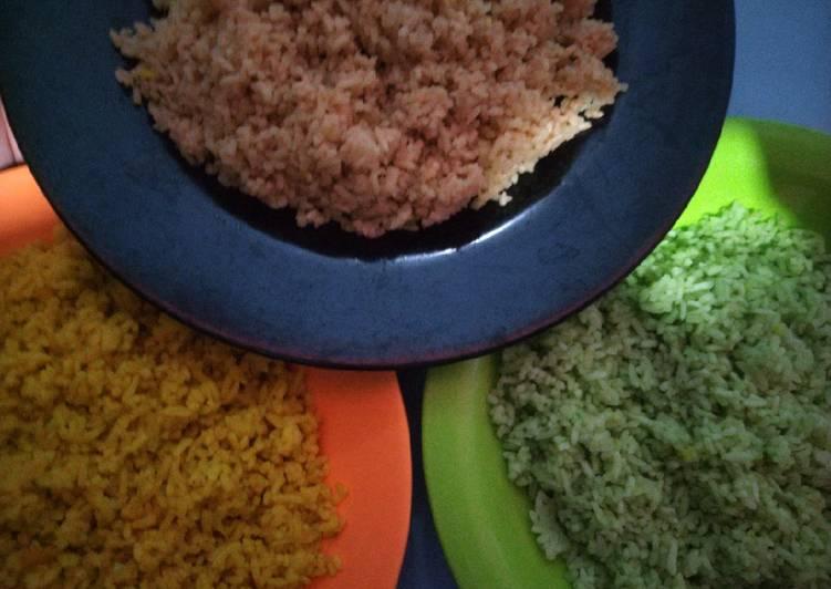 Nasi Uduk Merah, Kuning, Hijau