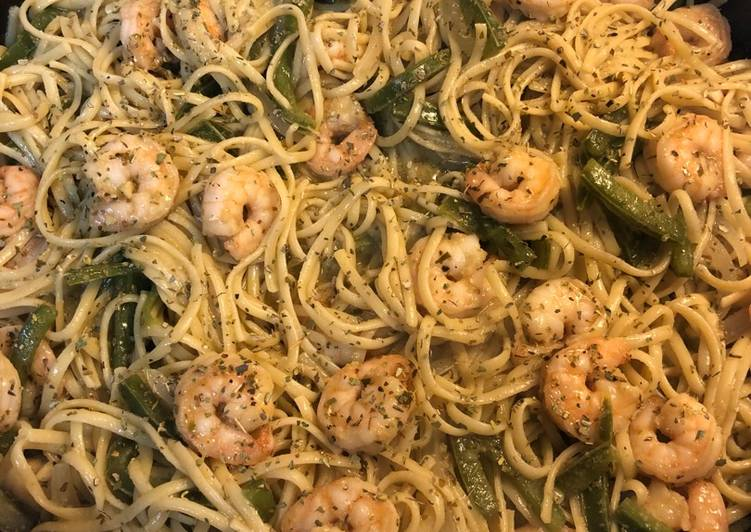 Garlic-Lime Pepper Shrimp Pasta