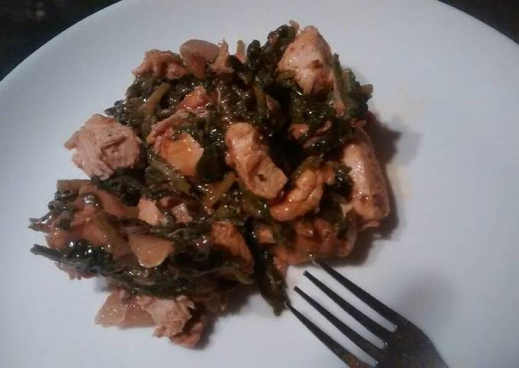 How to Cook Yummy Spinach chicken stir fry