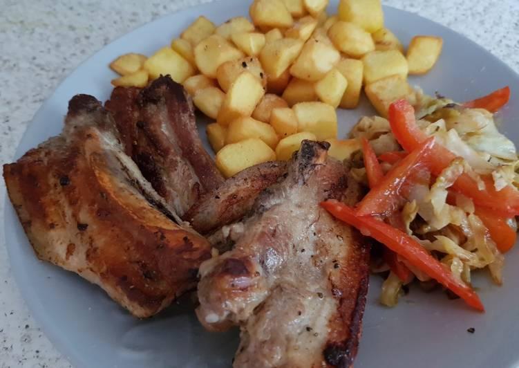 My Just plain Belly Pork fried or Grilled until crispy 😀