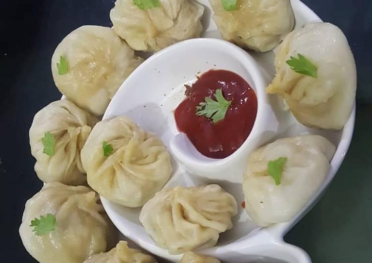 Chicken dumplings (momos)🍴
