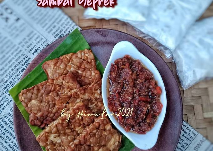 tempe goreng sambal geprek - resepenakbgt.com