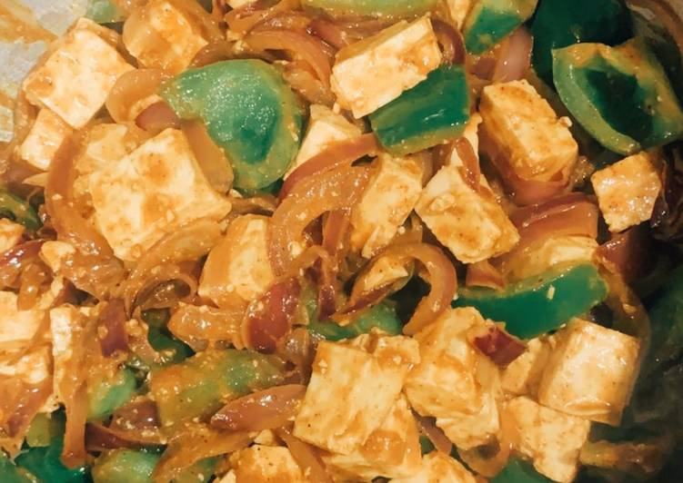 Indian style chilli paneer