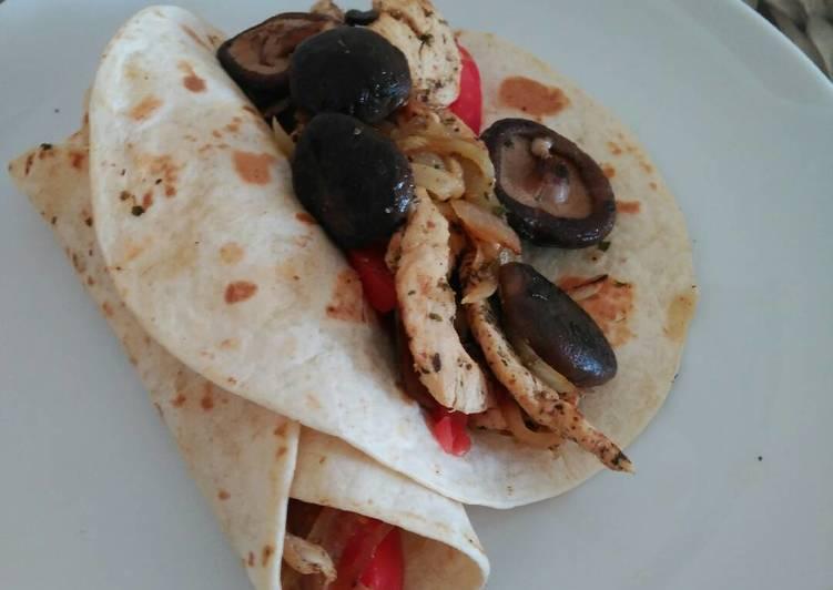 Shiitake & Chicken Tacos