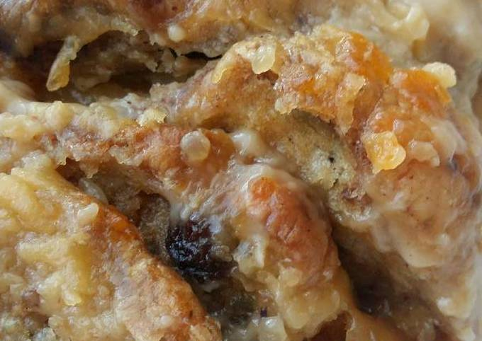 Vickys Hot Cross Bread & Butter Pudding, GF DF EF SF NF