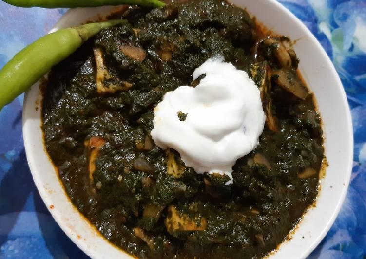 Creamy Mushroom Palak Paneer