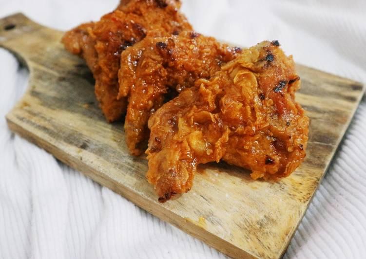 Korean Honey Spicy Chicken Wings