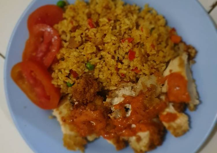 Resep Spicy Fried Rice With Chicken Katsu Oleh Gary Cookpad
