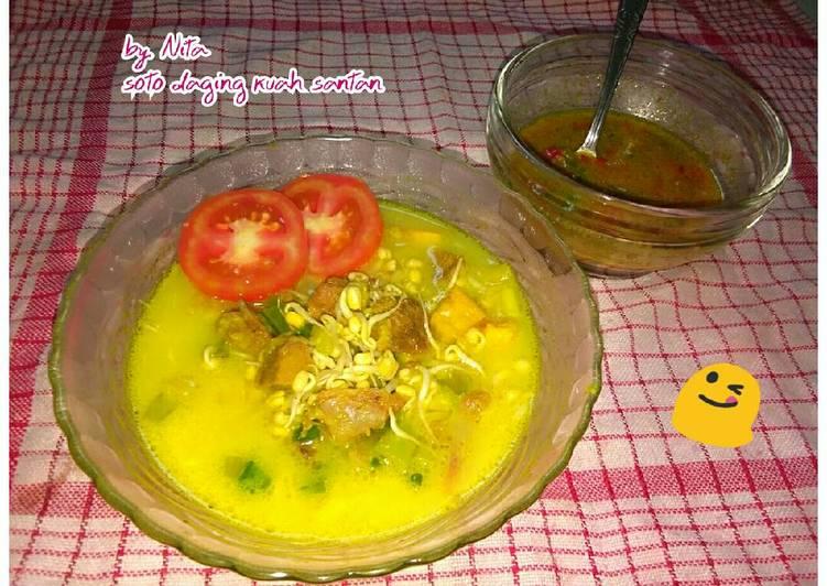 Soto Daging Kuah Santan