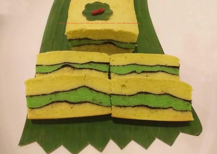 Topo Cake (santan & syrup melon)