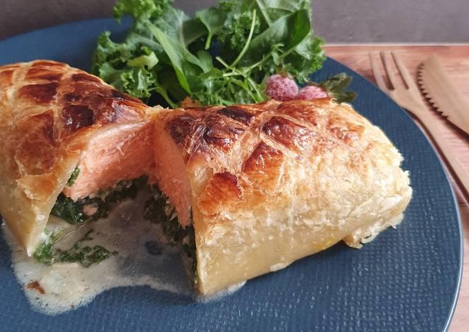Salmon en croute rendah kalori