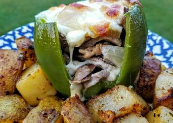 How to Recipe Delicious Philly Cheesesteak Stuffed Peppers