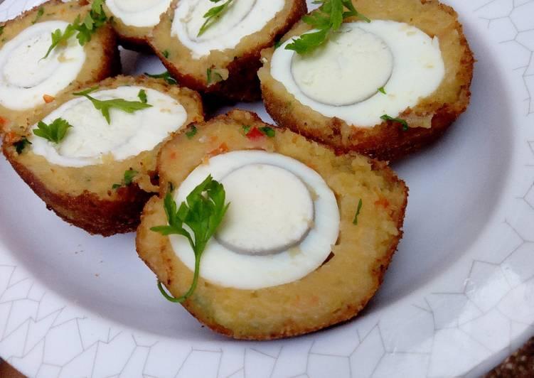 Potato scotch eggs