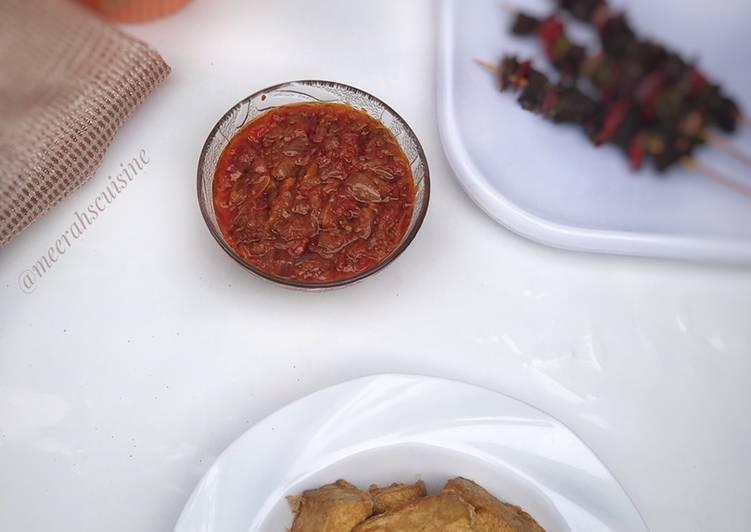 Awara (Tofu) and pepper sauce