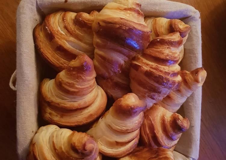 Pâte levée feuilletée (PLF) et croissants